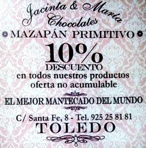 CUPON DESCUENTO JACINTA Y MARIA